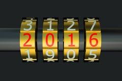 Νέα έννοια έτους 2016 διανυσματική απεικόνιση
