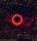 Νέα έννοια πυροτεχνημάτων έτους Στοκ Εικόνες