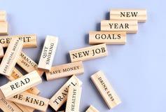 Νέα έννοια στόχων έτους στοκ φωτογραφία με δικαίωμα ελεύθερης χρήσης