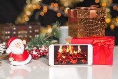 Νέα έτη και deco Χριστουγέννων Στοκ εικόνα με δικαίωμα ελεύθερης χρήσης