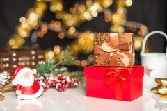 Νέα έτη και deco Χριστουγέννων Στοκ Φωτογραφία