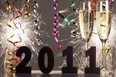 νέα έτη παραμονής διακοσμήσ Στοκ Φωτογραφίες