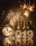 νέα έτη παραμονής εορτασμο Στοκ φωτογραφία με δικαίωμα ελεύθερης χρήσης