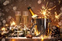 νέα έτη παραμονής εορτασμο Στοκ φωτογραφίες με δικαίωμα ελεύθερης χρήσης