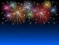 νέα έτη πυροτεχνημάτων παραμ& στοκ φωτογραφία με δικαίωμα ελεύθερης χρήσης