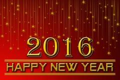 2016 νέα έτη Στοκ Εικόνες