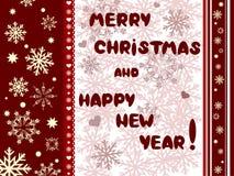 νέα έτη cristmas καρτών Στοκ Φωτογραφίες