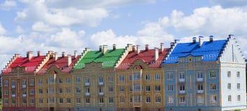 νέα έτοιμη πώληση σπιτιών Στοκ Εικόνα