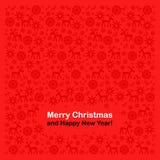 Νέα έτος και Χριστούγεννα Στοκ Εικόνα