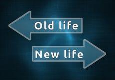 Νέα ή παλαιά ζωή Στοκ εικόνα με δικαίωμα ελεύθερης χρήσης