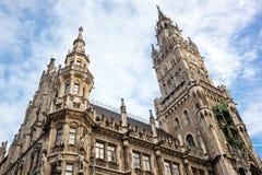 Νέα αίθουσα πόλεων σε Marienplatz Μόναχο Στοκ εικόνες με δικαίωμα ελεύθερης χρήσης