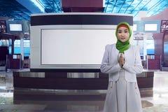 Νέα ασιατική μουσουλμανική γυναίκα Στοκ φωτογραφία με δικαίωμα ελεύθερης χρήσης