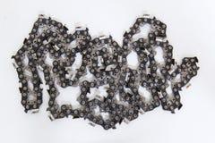 Νέα αλυσίδα αλυσιδοπριόνων που απομονώνεται Στοκ φωτογραφία με δικαίωμα ελεύθερης χρήσης