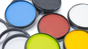 Νέα βάζα aqua makeup στο άσπρο υπόβαθρο Στοκ Φωτογραφίες