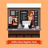 Νέα βοηθητική εξυπηρέτηση καταστημάτων στο γραφείο ταμιών ελεύθερη απεικόνιση δικαιώματος
