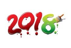 Νέα βούρτσα χρωμάτων έτους Στοκ Εικόνες