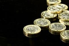Νέα βρετανικά νομίσματα λιβρών Στοκ εικόνες με δικαίωμα ελεύθερης χρήσης