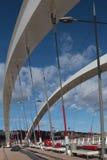 Νέα γέφυρα κάτω από την κατασκευή στη Λυών Στοκ φωτογραφία με δικαίωμα ελεύθερης χρήσης