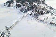 Νέα γέφυρα στην περιοχή Ελσίνκι, Φινλανδία Kalasatama στοκ εικόνες με δικαίωμα ελεύθερης χρήσης