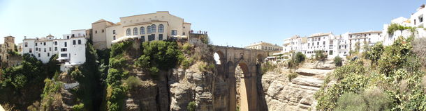 Νέα γέφυρα στη Ronda, Μάλαγα, Ανδαλουσία Στοκ Φωτογραφίες