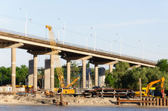 Νέα γέφυρα στο Ροστόφ Στοκ εικόνα με δικαίωμα ελεύθερης χρήσης