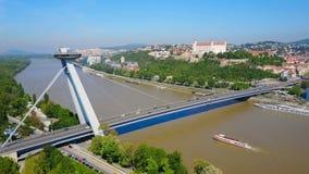 Νέα γέφυρα SNP, Μπρατισλάβα απόθεμα βίντεο