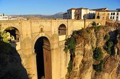 Νέα γέφυρα Tajo de Ronda, επαρχία της Μάλαγας, Ανδαλουσία, Ισπανία Στοκ φωτογραφίες με δικαίωμα ελεύθερης χρήσης