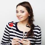 Νέα γυναίκα έκφρασης Στοκ φωτογραφία με δικαίωμα ελεύθερης χρήσης