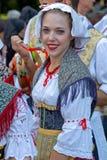 Νέα γυναίκα από την Ιταλία στο παραδοσιακό κοστούμι Στοκ φωτογραφίες με δικαίωμα ελεύθερης χρήσης