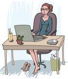 Νέα γυναίκα γραμματέων Στοκ Εικόνες