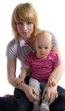 Νέα γυναίκα με ένα παιδί Στοκ φωτογραφία με δικαίωμα ελεύθερης χρήσης