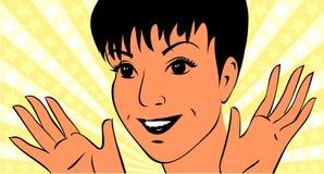 Νέα γυναίκα με το άσπρος-οδοντωτό χαμόγελο Στοκ εικόνες με δικαίωμα ελεύθερης χρήσης