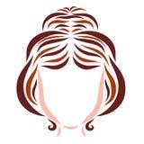Νέα γυναίκα με το εορταστικές hairdo, την τρίχα και την ομορφιά διανυσματική απεικόνιση