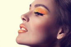 Νέα γυναίκα με το makeup στοκ φωτογραφία με δικαίωμα ελεύθερης χρήσης