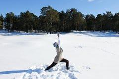 Ασκήσεις γιόγκας Στοκ φωτογραφίες με δικαίωμα ελεύθερης χρήσης