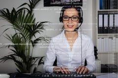 Νέα γυναίκα που παρέχει το υποστήριξη Στοκ Εικόνα