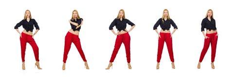 Νέα γυναίκα στην έννοια μόδας στοκ εικόνες