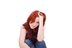 Νέα γυναίκα στην κατάθλιψη Στοκ εικόνες με δικαίωμα ελεύθερης χρήσης