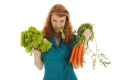 Νέα γυναίκα στη διατροφή στοκ εικόνα