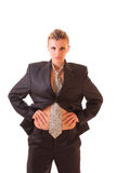 Νέα γυναίκα στο κοστούμι γραφείων που απομονώνεται Στοκ φωτογραφία με δικαίωμα ελεύθερης χρήσης