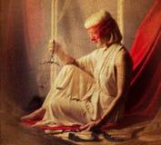 Ορισμένη Femida φωτογραφία ως ζωγραφική στον καμβά Στοκ φωτογραφία με δικαίωμα ελεύθερης χρήσης