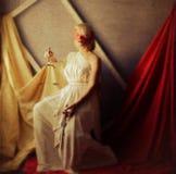 Ορισμένη Femida φωτογραφία ως ζωγραφική στον καμβά Στοκ Εικόνα