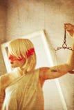 Οριζόντιο ύφος femida ως ζωγραφική στον καμβά Στοκ εικόνες με δικαίωμα ελεύθερης χρήσης