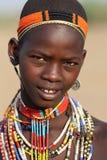 Νέα γυναίκα Arbore στη χαμηλότερη κοιλάδα Omo, Αιθιοπία Στοκ Εικόνες