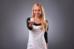 Νέα γυναίκα barista Στοκ Εικόνες