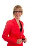 Νέα γυναίκα bussines με τα γυαλιά Στοκ Εικόνες
