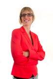 Νέα γυναίκα bussines με τα γυαλιά Στοκ εικόνα με δικαίωμα ελεύθερης χρήσης