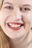 Νέα γυναίκα smiling.GN Στοκ φωτογραφία με δικαίωμα ελεύθερης χρήσης