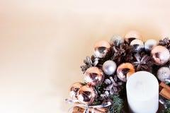 Νέα δέσμη έτους με το έλατο και τα ξηρά λουλούδια στοκ φωτογραφίες με δικαίωμα ελεύθερης χρήσης