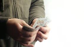 Νέα δολάρια αρίθμησης τύπων απόθεμα βίντεο